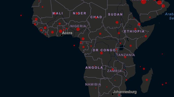 image pays africains touchés par le corona virus